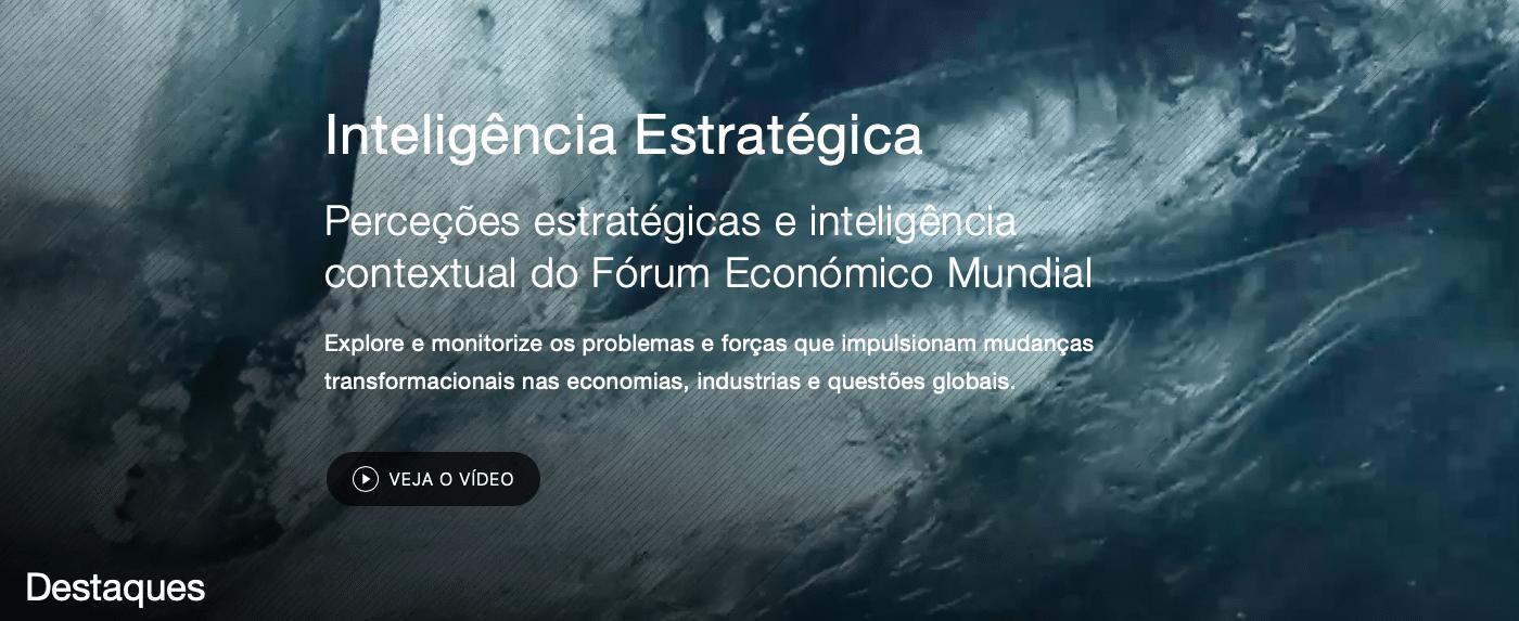 Fórum Econômico Mundial - Nova ferramenta